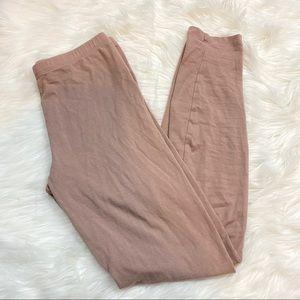 Beige Nude Tan Basic Leggings